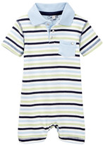 Coccoli Multi Stripe Polo Romper (Baby Boys)
