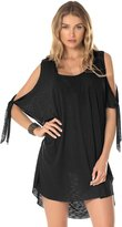 Becca by Rebecca Virtue Becca Women's Breezy Basics Cold Shoulder Poncho Swim Cover Up