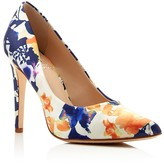 Vince Camuto Kain Floral Print Pointed Toe High Heel Pumps
