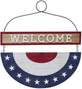 """Celebrate Americana Together Bunting """"Welcome"""" Wall Decor"""