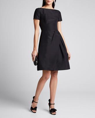 Carolina Herrera Icon Bateau Neck Short-Sleeve Dress