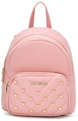 Love Moschino Heart-Studded Embellished Backpack