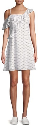 Bailey 44 Cali Dream Dotted Off-Shoulder Ruffle Dress