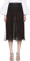 Valentino Black Lace Skirt