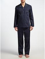 John Lewis Diamond Pin Dot Pyjamas, Navy