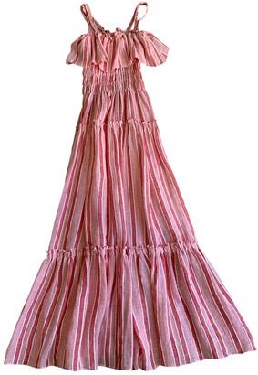 Three Graces London Pink Linen Dresses