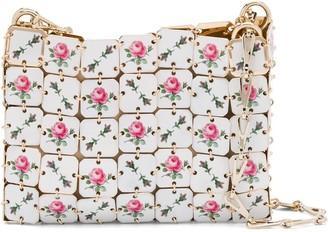 Paco Rabanne Floral Tile Print Shoulder Bag