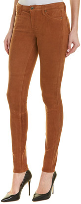 AG Jeans The Legging Bordeaux Brown Suede Super Skinny Leg