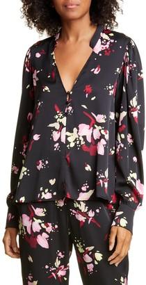 A.L.C. Rivera Floral Silk Blouse