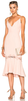 Nicholas Crepe Fitted Panel Dress in Pink.