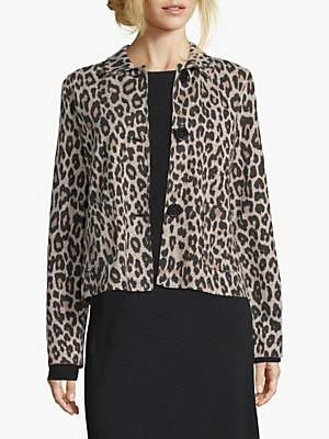 Betty Barclay Animal Print Jacket, Black/Camel