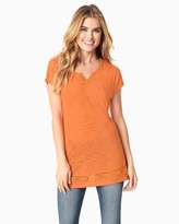 Charming charlie Crocheted Jersey Tunic