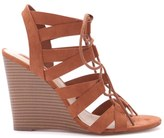 Forever 21 FOREVER 21+ Lace-Up Faux Suede Wedges
