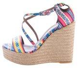 Tabitha Simmons Printed Wedge Sandals