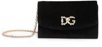 Dolce & Gabbana Velvet Cross Body Mini Bag