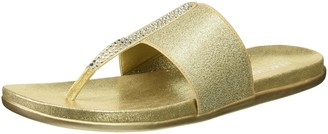Kenneth Cole Reaction Women's Slim Stand Thong Sandal with Stretchy Straps Flip-Flop