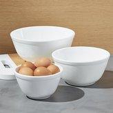 Crate & Barrel Mosser Milk Mixing Bowls Set of Three