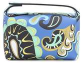 Emilio Pucci Printed faux-leather clutch