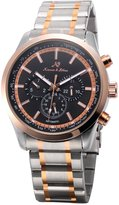 K&S KS Men's Dress Date Day 24 Hours Display Analog Automatic Mechanical Steel Wrist Watch KS309