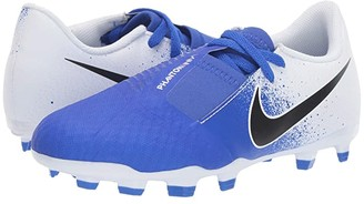 Nike Kids Jr. Phantom Venom Academy FG (Toddler/Little Kid/Big Kid) (White/Black/Racer Blue) Kids Shoes