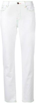 Karl Lagerfeld Paris Contrast Stitching Jeans