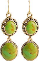 Barse FINE JEWELRY Art Smith by Green Turquoise Double-Drop Earrings