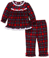 Little Me 2-Pc. Plaid Pajama Set, Baby Girls (0-24 months)