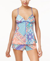 Linea Donatella Lillet Patch Cami & Shorts Knit Pajama Set