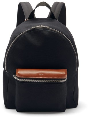 Amiri Leather-trimmed Canvas Backpack - Black
