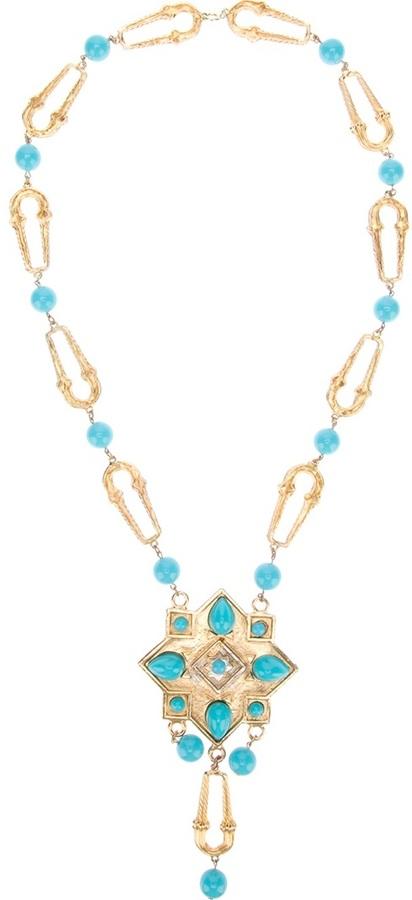 Chloé Vintage Turquoise modernist pendant