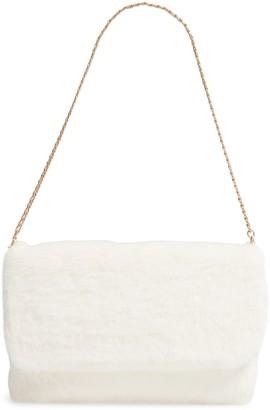 Rachel Parcell Faux Fur Shoulder Bag