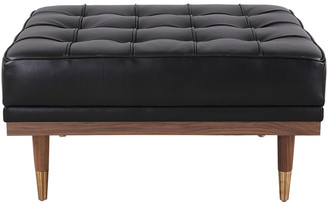 808 Home Woodrow Leather Mid-Century Modern Box Ottoman