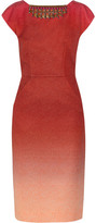 Matthew Williamson Embellished degradé jacquard dress