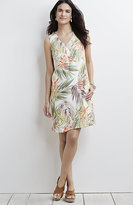 J. Jill Printed Linen V-Neck Tank Dress