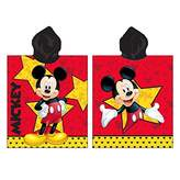 JERRY FABRICS s.r.o. Boys Hooded Poncho Towel, Mickey and Friends