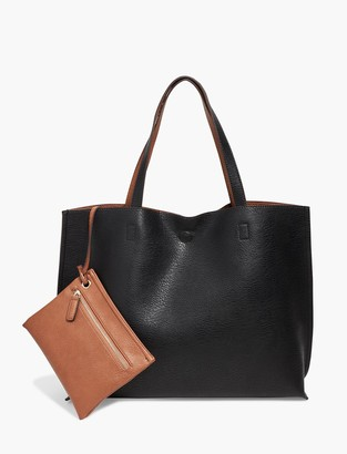 Lucky Brand Reversible Vegan Leather Tote Bag