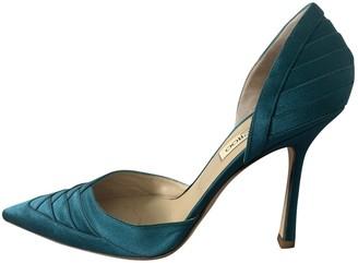 Jimmy Choo Blue Cloth Heels