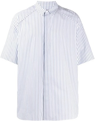 Juun.J Striped Short Sleeved Shirt