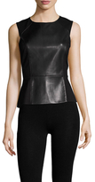BCBGMAXAZRIA Faux Leather Ponte Shell