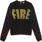 Kenzo Fire Knit With Plaid Sleeve