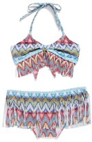 Pilyq Girl's Fringe Two-Piece Swimsuit