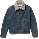Rag & Bone Bartack Shearling-Lined Denim Jacket