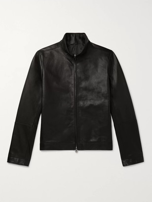 The Row Cole Slim-Fit Leather Bomber Jacket - Men - Black