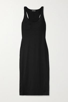 Tom Ford Stretch-wool Midi Dress - Black