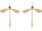 Annette Ferdinandsen Damsel Earrings with Ruby Eyes