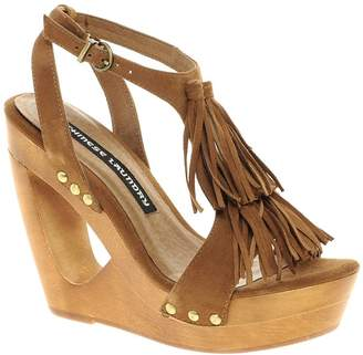 Chinese Laundry Undercover Heeled Sandals-Brown