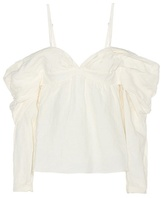 J.W.Anderson Linen Off-the-shoulder Top