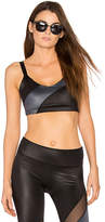 Beyond Yoga Gloss Over Waves Sports Bra in Black