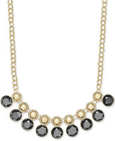 Charter Club Gold-Tone Pavé and Colored Stone Necklace, Only at Macy's