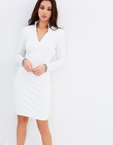 Lumier You'll See It When You Believe It Long Sleeve Trim Midi